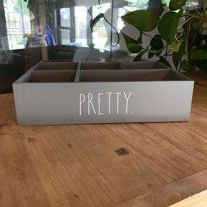 "Rae Dunn wooden decorative box ""PRETTY"""